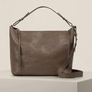 🆕 ALL SAINTS studded leather crossbody bag +pouch